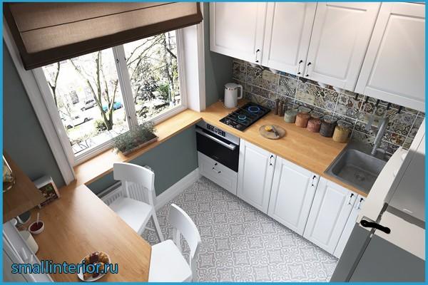 дизайн кухни брежневка 6 кв м