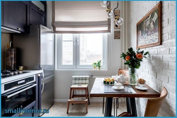 дизайн кухни в брежневке 6 м фото