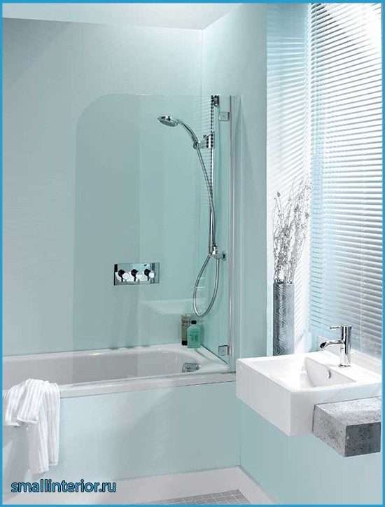 дизайн ванны в светлых тонах
