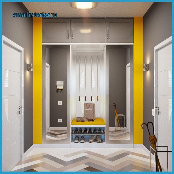 серый коридор в квартире