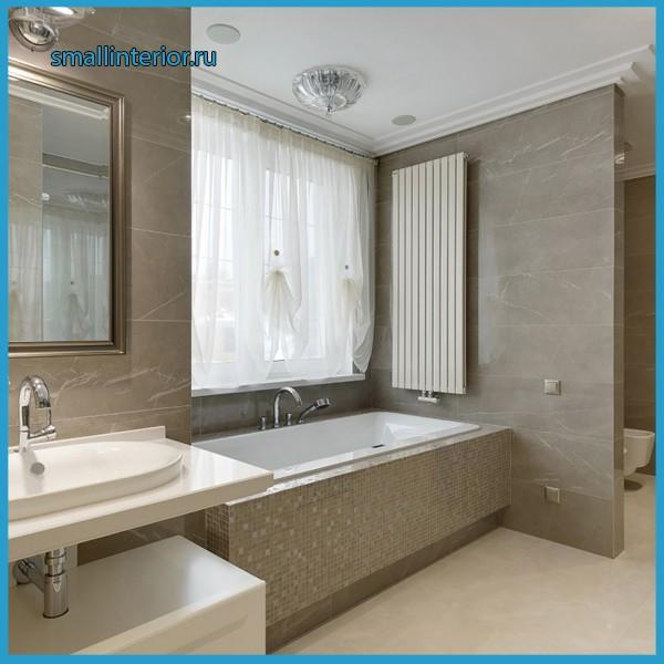 светлая ванная комната дизайн