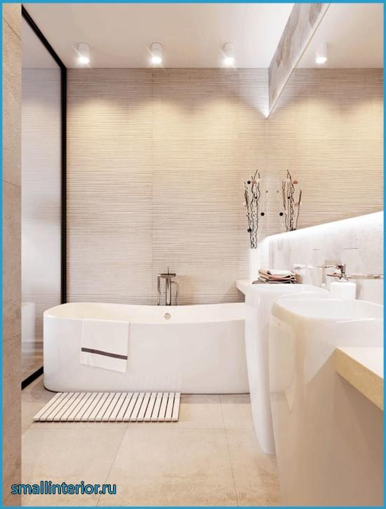 ванная в светлых тонах интерьер