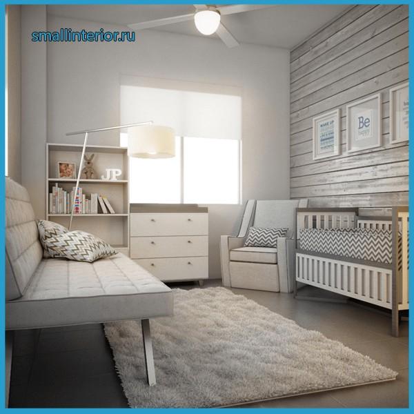 детская комната в серых тонах