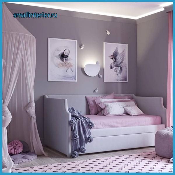 комната в серых тонах для подростка