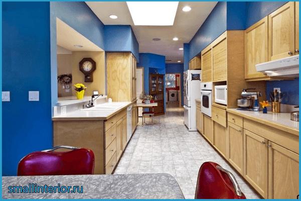Акценты на кухне в коридоре