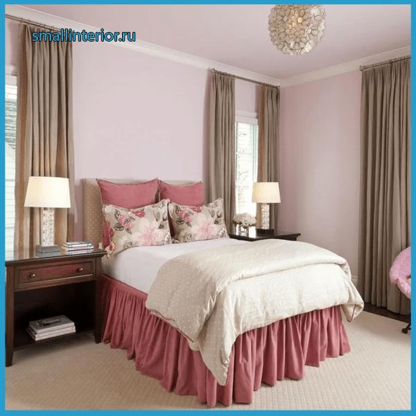Акценты в розовой спальне