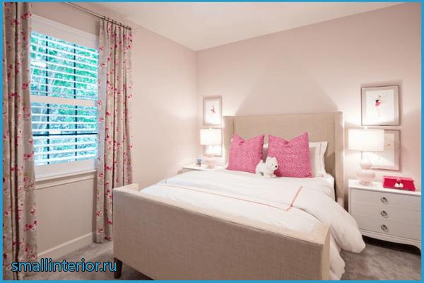Цветовая гамма розовой спальни