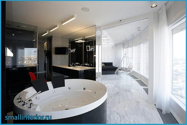 Дизайн ванной комнаты с джакузи 4