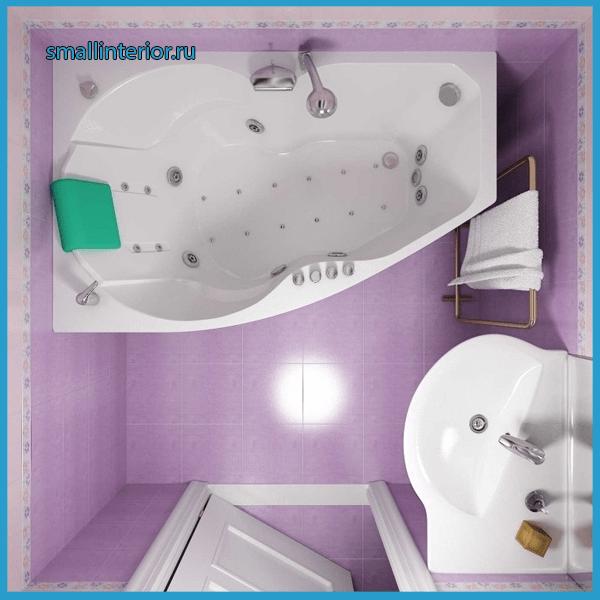 Джакузи в маленькой ванной комнате 2
