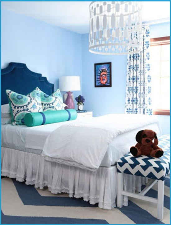 Голубая спальня 7