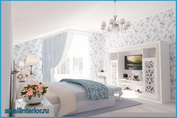 Голубая спальня прованс