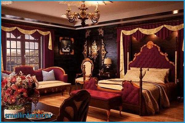 Красная спальня барокко