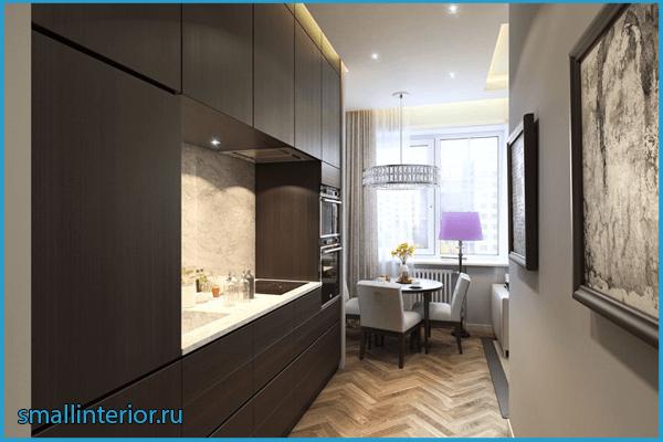 Кухня в коридоре 5