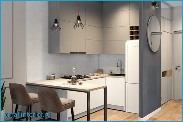 Кухня в коридоре 6