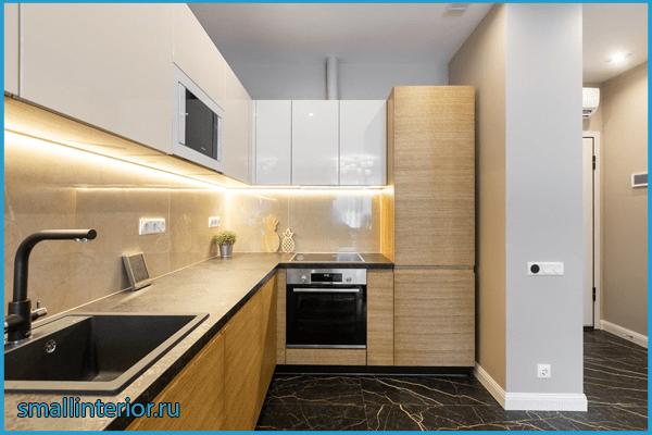 Кухня в коридоре в одном стиле