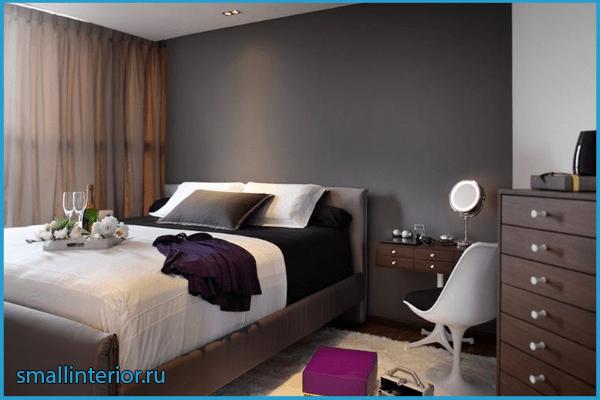 Мебель в коричневой спальне