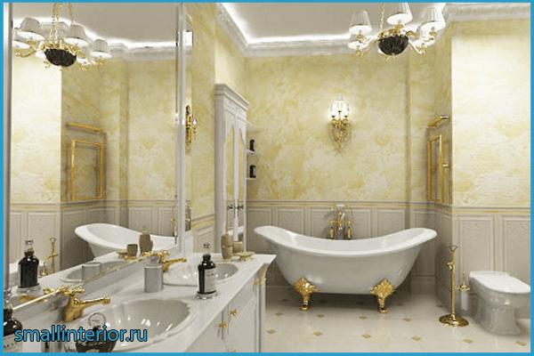 Мебель в ванной классического стиля 2