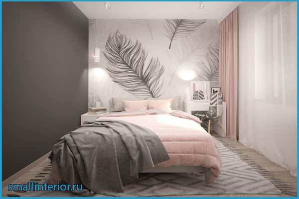 Оформление пола в розовой спальне