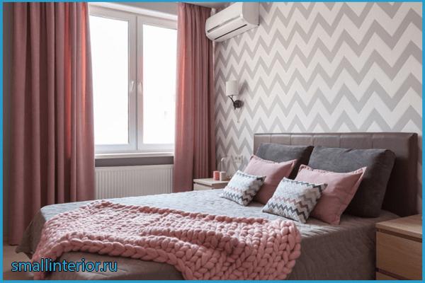 Окна в розовой спальне