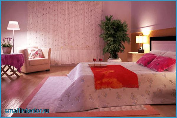 Освещение в розовой спальне 2