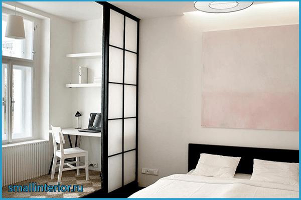 Освещение в спальне с балконом
