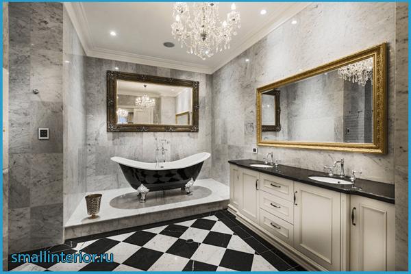 Плитка в ванной классического стиля