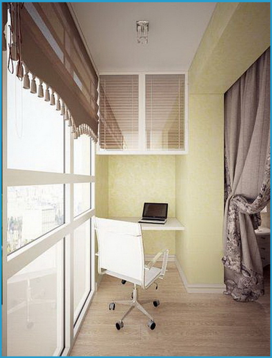 Рабочая зона на балконе
