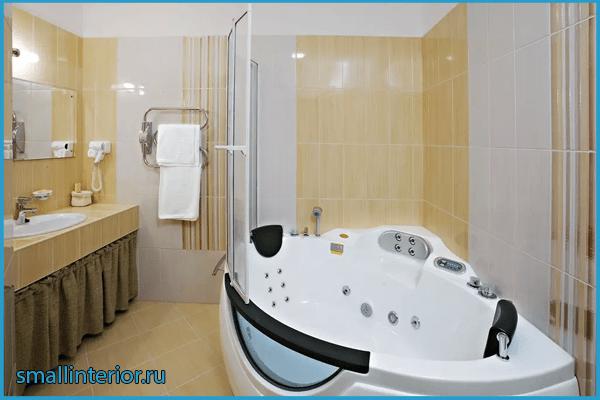 Размещение джакузи в ванной 2