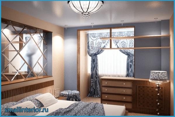 Совмещение спальни и балкона 3