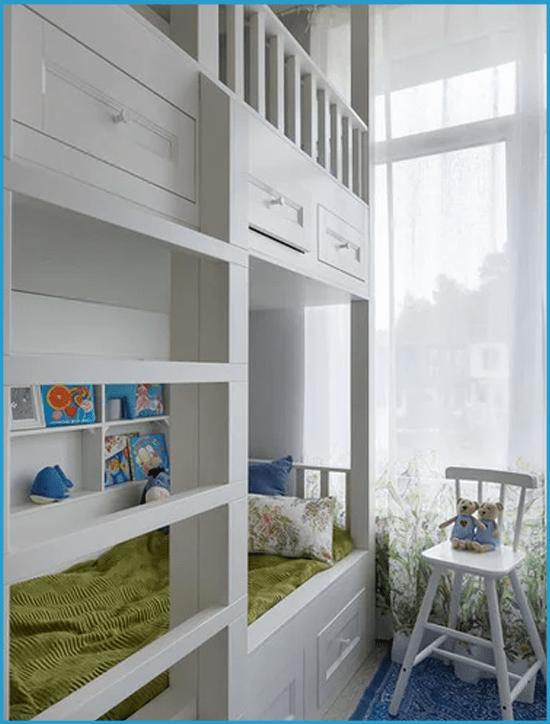 Современная двухэтажная кровать для детей