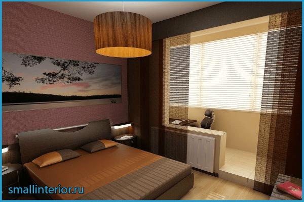 Спальня с балконом хай-тек
