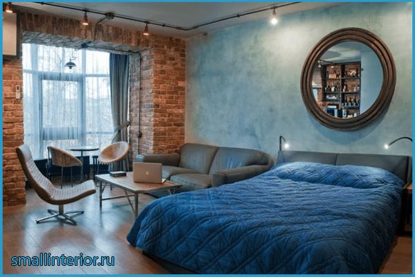 Спальня с балконом лофт