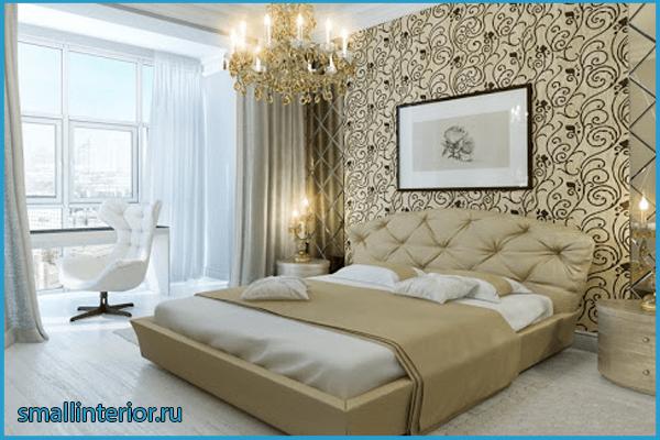 Спальня с балконом в классическом стиле