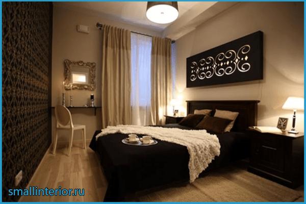 Спальня в коричневом цвете