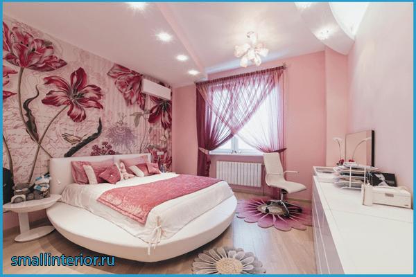 Спальня в розовых тонах 2