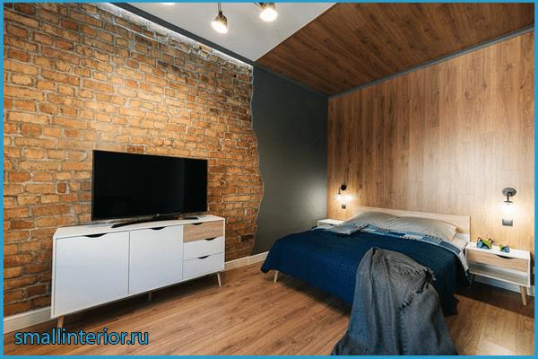 Спальня в стиле лофт 10