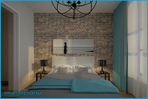 Спальня в стиле лофт 15