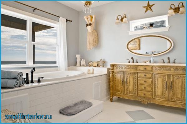 Декор в ванной в морской тематике
