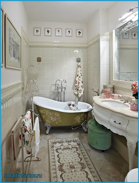 Ванная комната шебби шик