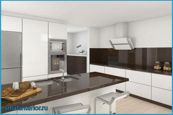 Кухня шоколадного цвета